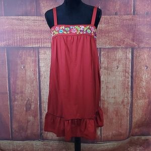 Xhilaration red floral sundress